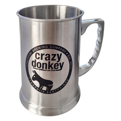Stainless Steel Crazy Donkey Mug silver
