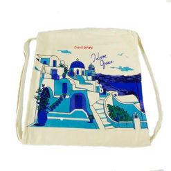 Canvas backpack bag - Santorini
