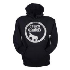 crazy donkey hoodie black