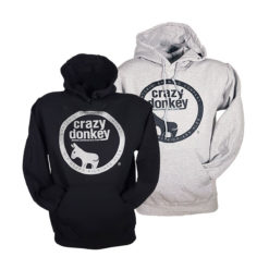 Crazy donkey beer hoodies, grey and black