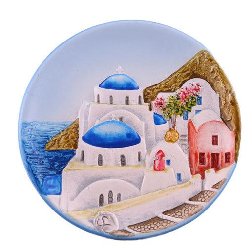 Decorative plate, magnet