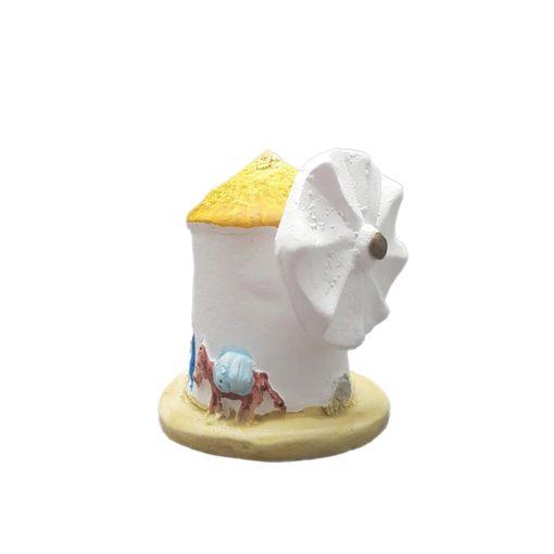 Santorini windmill handmade miniature