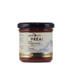 Άλειμμα τοματοπολτού με μέλι, μαστιχέλαιο και τζίντζερ - Santotaste